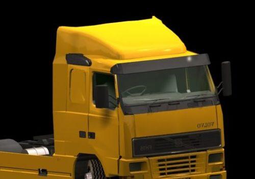 Yellow Volvo Heavy Truck