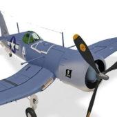 Aircraft Ww1 Vought F4u Corsair Fighter