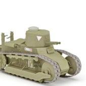 Military Ww1 Italy Light Tank