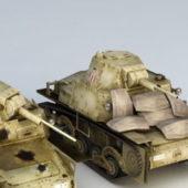 Ww2 L6/40 Military Tank Wreck