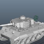Military Ww2 Tiger 1 Tank