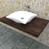Wall Mount Bathroom Vessel Sink