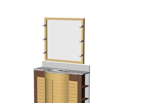Wall Mounted Mirror Bathroom Cabinet Vanity