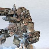 Character War Machine Cyborg Monster