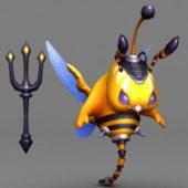 Warrior Bee Cartoon Character