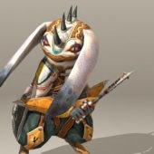 Character Warrior Rabbit Character
