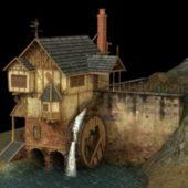 House Water Wheel Building