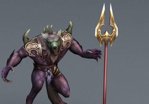 Game Character Werewolf Soldier