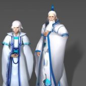 Character White Haired Couple