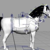 White Horse Rigged