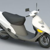 White Moped Scooter