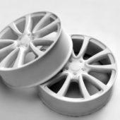 Car White Rims