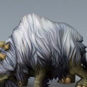 Animal White Woolly Rhinoceros