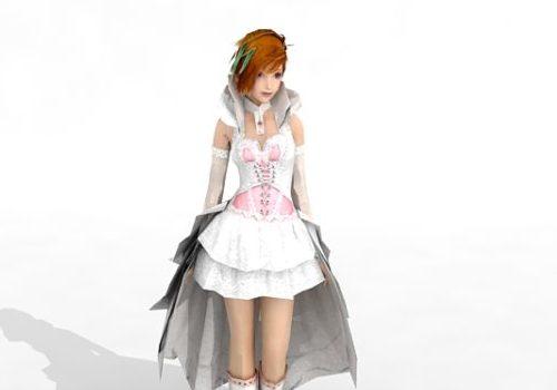 White Dress Girl Character