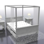 White Poster Bed Furniture