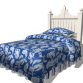 Furniture White Kid Bed