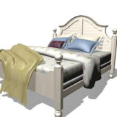 Furniture White Wooden Bed