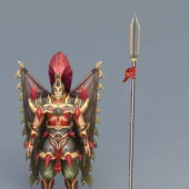 Character Winged Warrior With Spear