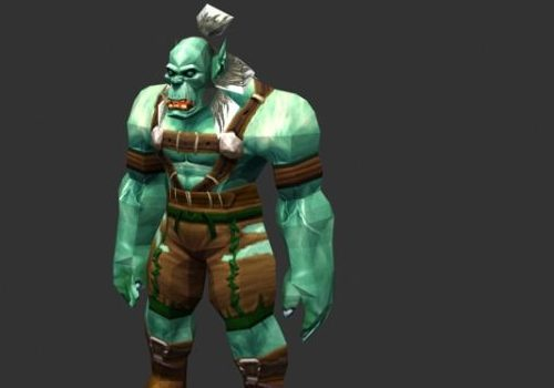 Wow Orc Male Game Character