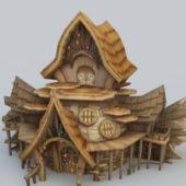 Wooden Elf House Building