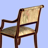 Asian Wood Accent Chair