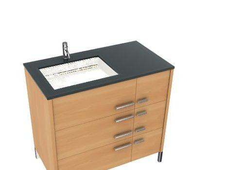 Furniture Wood Basin Cabinet