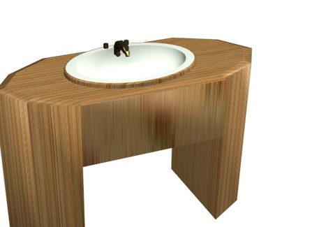 Furniture Wood Bathroom Vanity