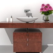 Bathroom Wood Vanity With Sink