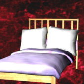 Home Furniture Wood Twin Bed With Headboard