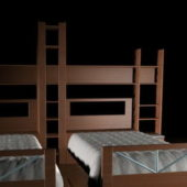 Wood Furniture Twin Beds For Kids Room