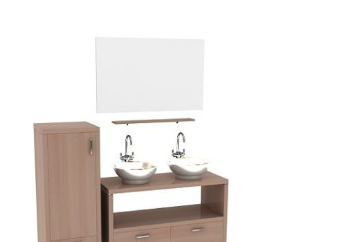 Furniture Wood Vanity And Cabinet