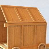 Old Asian Wooden Carriage