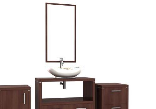 Furniture Wooden Bathroom Vanity Cabinet