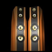 Wooden High-end Stereo Speakers