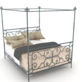 Bedroom Wrought Iron Canopy Bed