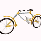 Modern Yellow Low Bicycle