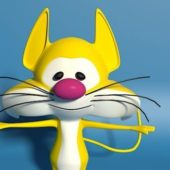 Yellow Cat Cartoon Character