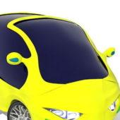 Yellow Electric Smart City Car