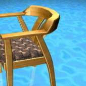 Yellow Wood Dining Chair
