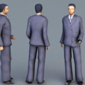 Young Businessman Man Character