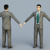 Young Businessman Character Rigged