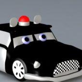 Cartoon Police Car Character